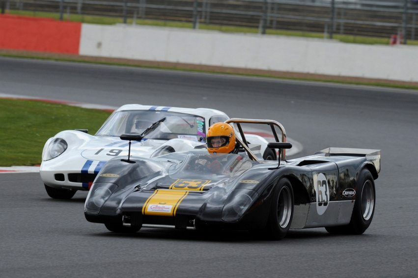 Silverstone Classic Media Day 2016, Silverstone Circuit, Northants, England. 27th April, 2016 Lola Copyright Free for editorial use